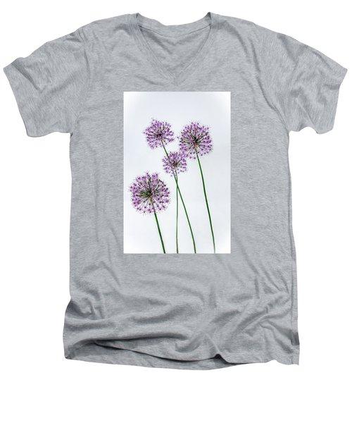 Alliums Standing Tall Men's V-Neck T-Shirt by Susan  McMenamin