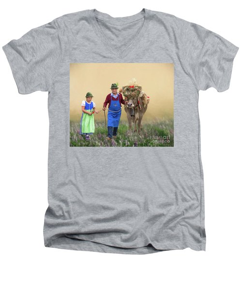 Almabtrieb Men's V-Neck T-Shirt