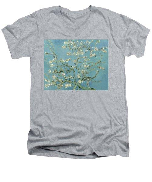 Almond Blossom Men's V-Neck T-Shirt