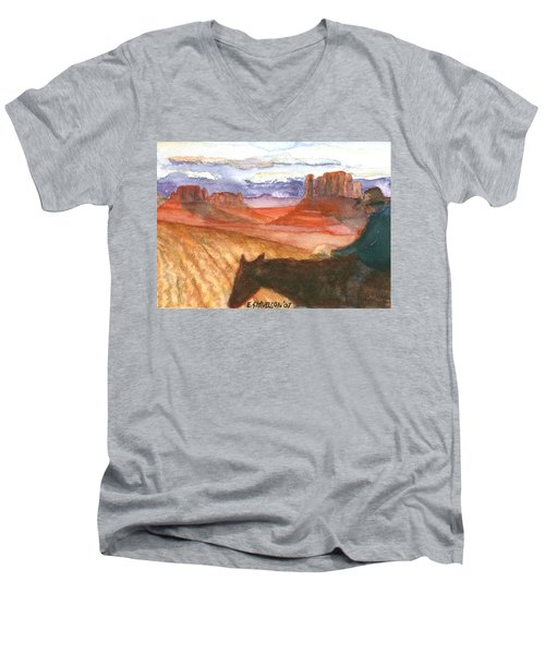 Almost Home Men's V-Neck T-Shirt by Eric Samuelson