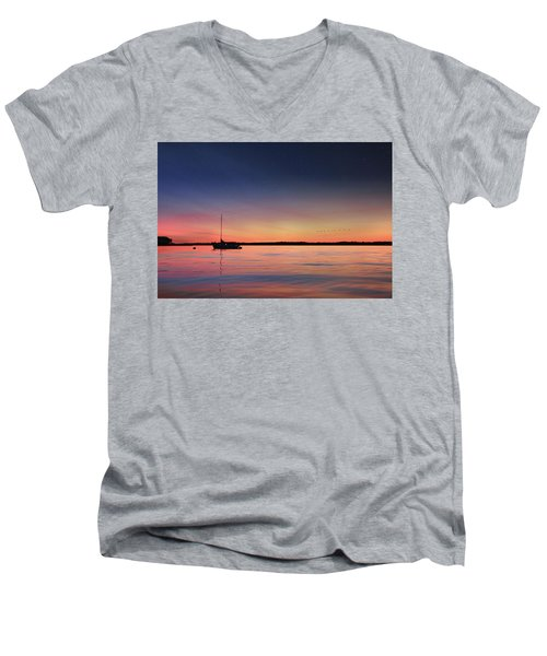 Men's V-Neck T-Shirt featuring the photograph Almost Paradise by Lori Deiter