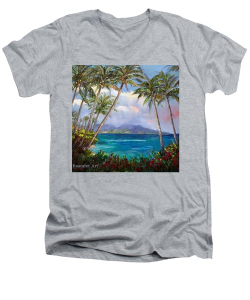 Aloha! Just Dreaming About #hawaii Men's V-Neck T-Shirt