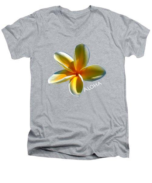 Aloha Plumeria Men's V-Neck T-Shirt