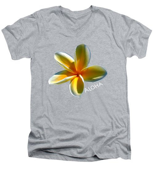 Aloha Plumeria Men's V-Neck T-Shirt