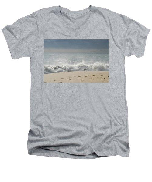 Alone - Jersey Shore Men's V-Neck T-Shirt