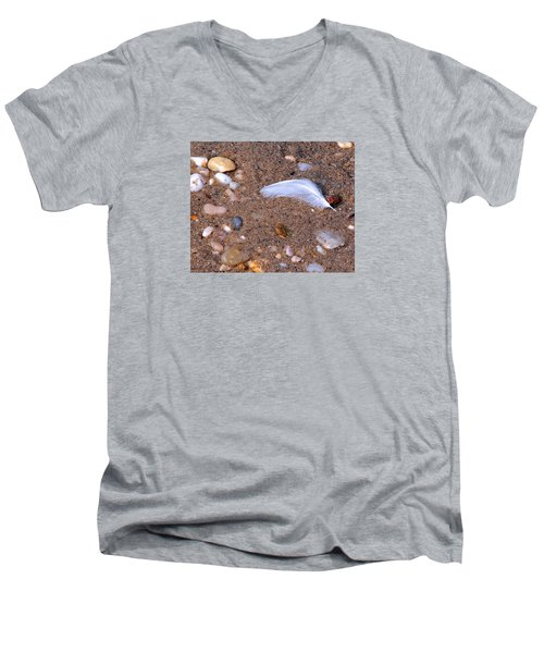 Men's V-Neck T-Shirt featuring the photograph Alone Among Strangers by Lynda Lehmann