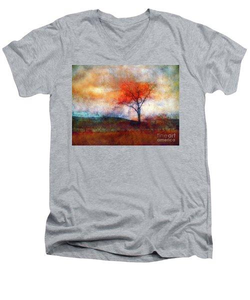 Alone In Colour Men's V-Neck T-Shirt by Tara Turner