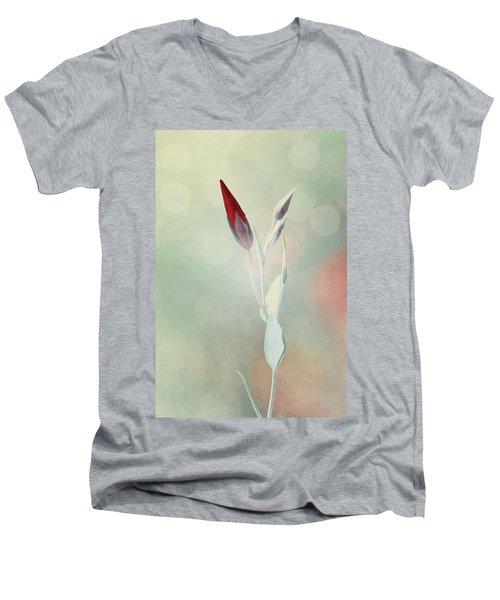 Alone In The Light Men's V-Neck T-Shirt