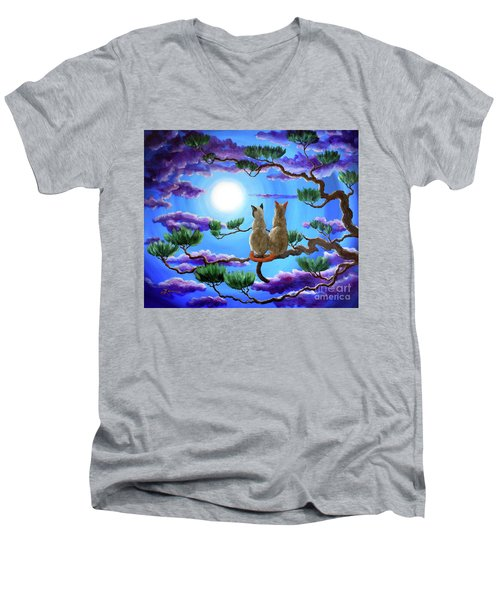 Alone In The Treetops Men's V-Neck T-Shirt by Laura Iverson