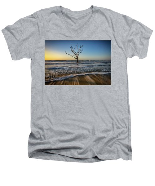 Men's V-Neck T-Shirt featuring the photograph Alone In The Water by Rick Berk