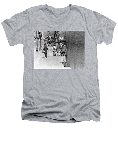 Not Alone  Men's V-Neck T-Shirt