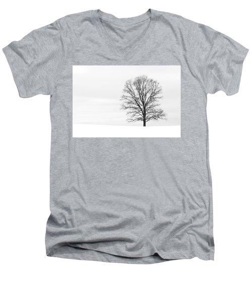 Alone On A Hill Men's V-Neck T-Shirt