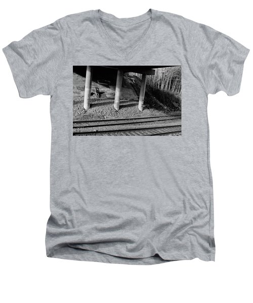 Men's V-Neck T-Shirt featuring the photograph Alone Time by Tara Lynn