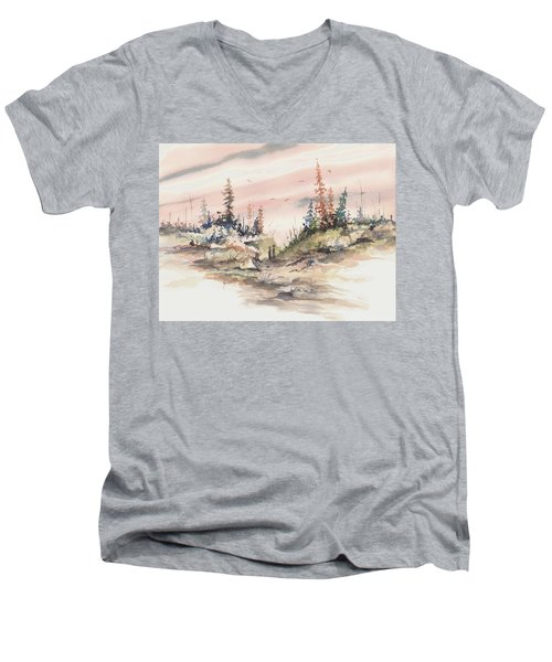 Alone Together Men's V-Neck T-Shirt by Sam Sidders