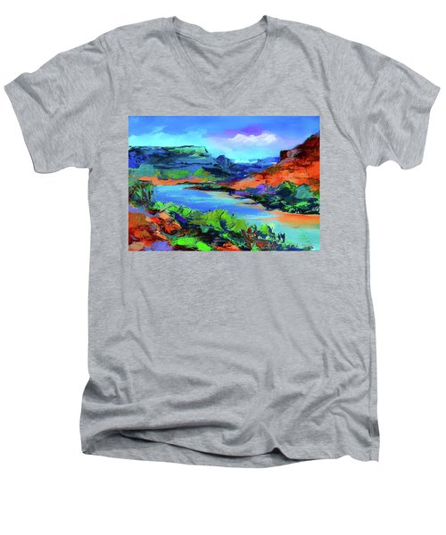 Along Colorado River - Utah Men's V-Neck T-Shirt