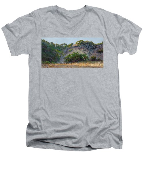 Along Jalama Creek Men's V-Neck T-Shirt