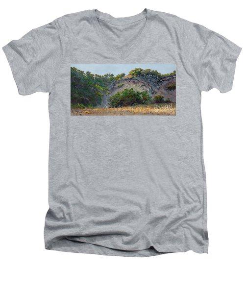 Along Jalama Creek Men's V-Neck T-Shirt