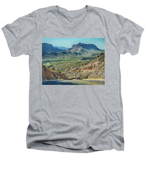 Along The Border Men's V-Neck T-Shirt