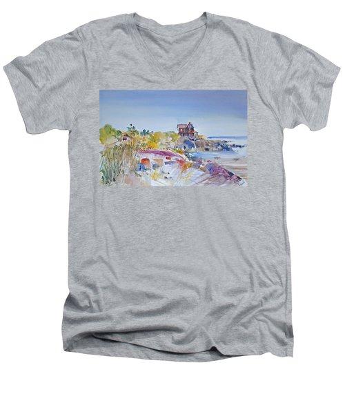 Along The Coast Men's V-Neck T-Shirt by P Anthony Visco