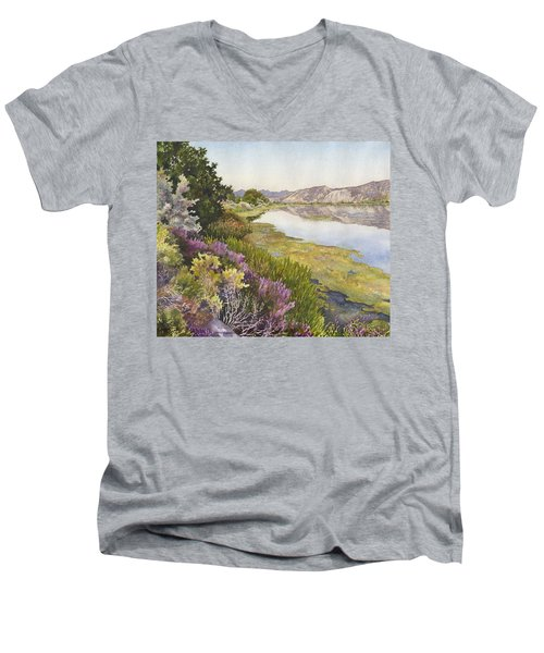Along The Oregon Trail Men's V-Neck T-Shirt by Anne Gifford