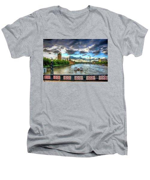 Along The Thames Men's V-Neck T-Shirt