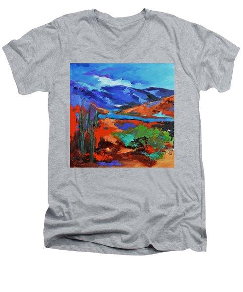 Along The Trail - Arizona Men's V-Neck T-Shirt