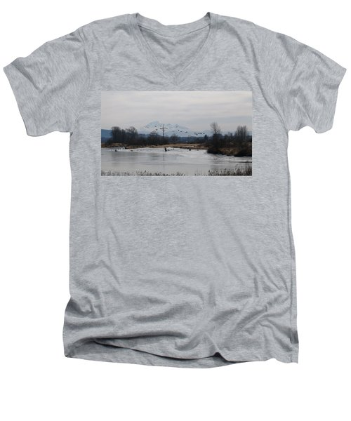 Alouette River Men's V-Neck T-Shirt