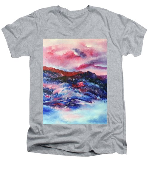 Alpenglow Men's V-Neck T-Shirt