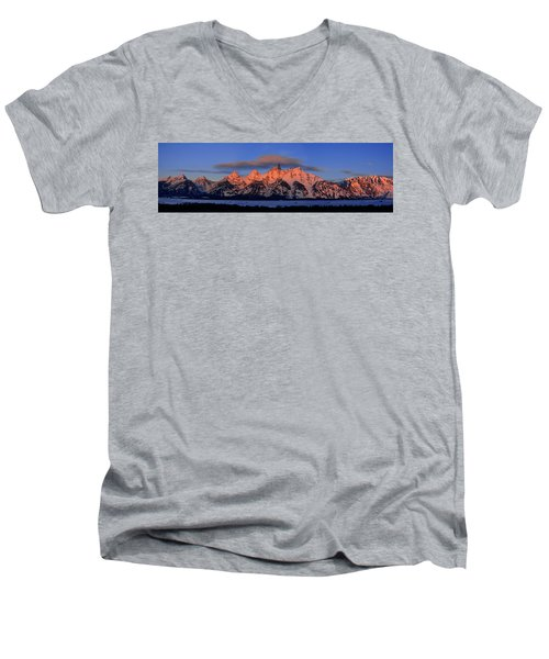 Alpenglow Tetons 2 Men's V-Neck T-Shirt