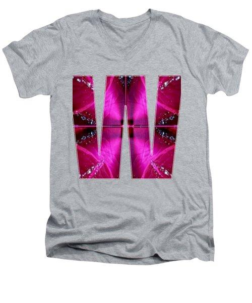Alpha Art On Shirts Alphabets Initials   Shirts Jersey T-shirts V-neck Sports Tank Tops Navinjoshi  Men's V-Neck T-Shirt by Navin Joshi