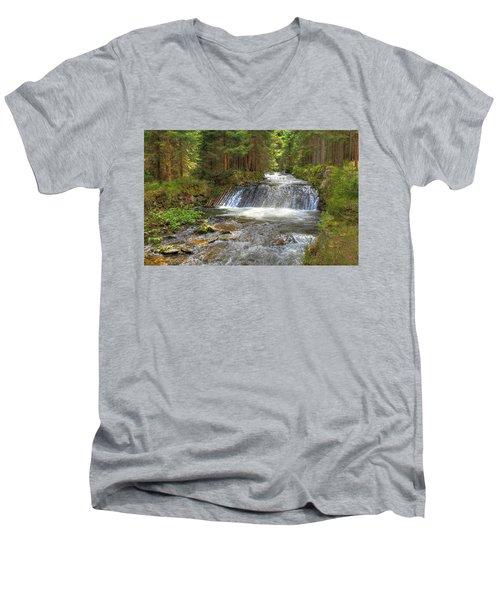 Alpine Fish Ladder Men's V-Neck T-Shirt