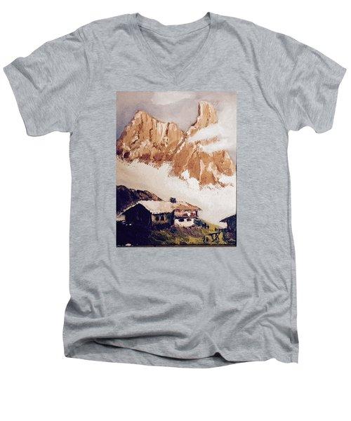 Alpine Home  Men's V-Neck T-Shirt