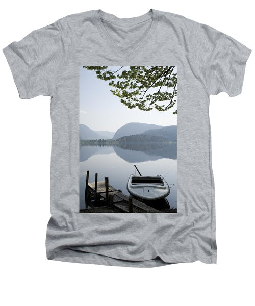 Men's V-Neck T-Shirt featuring the photograph Alpine Moods by Ian Middleton