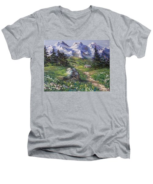Alpine Splendor Men's V-Neck T-Shirt