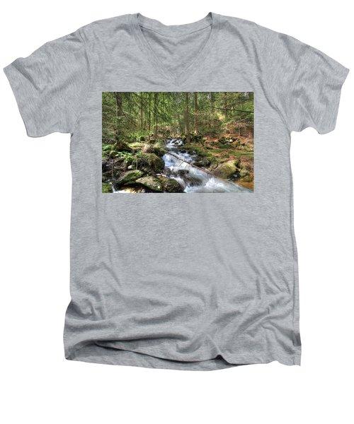 Alpine Water Falls Men's V-Neck T-Shirt