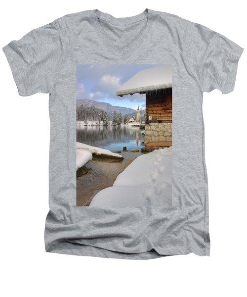 Alpine Winter Clarity Men's V-Neck T-Shirt