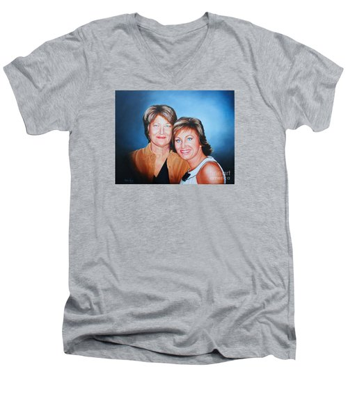 Amanda And Mom Men's V-Neck T-Shirt