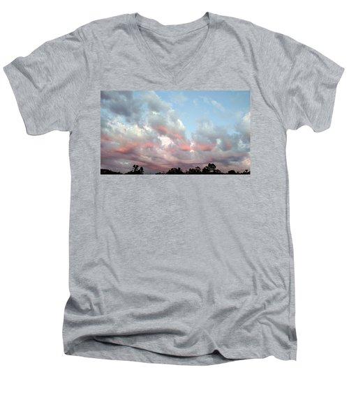 Amazing Clouds At Dusk Men's V-Neck T-Shirt