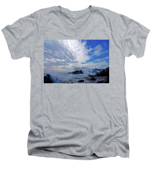 Amazing Superior Day Men's V-Neck T-Shirt by Sandra Updyke