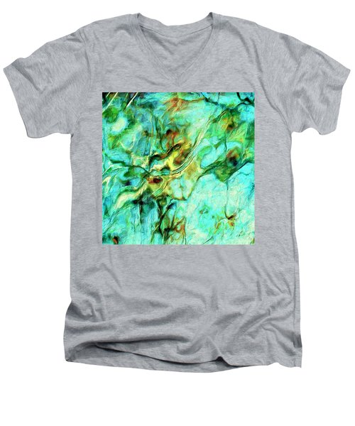 Men's V-Neck T-Shirt featuring the painting Amazon by Dominic Piperata