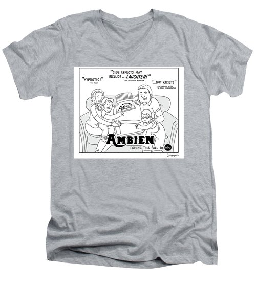 Ambien Coming This Fall To Abc Men's V-Neck T-Shirt