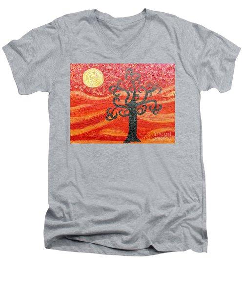 Ambient Bliss Men's V-Neck T-Shirt by Rachel Hannah