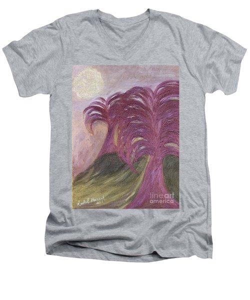 Ambient Moonlight Men's V-Neck T-Shirt by Rachel Hannah