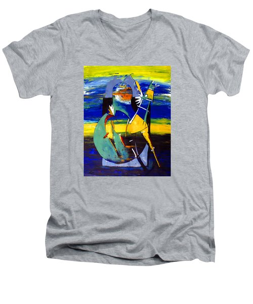 Ameeba 32- Horse And Pear Men's V-Neck T-Shirt