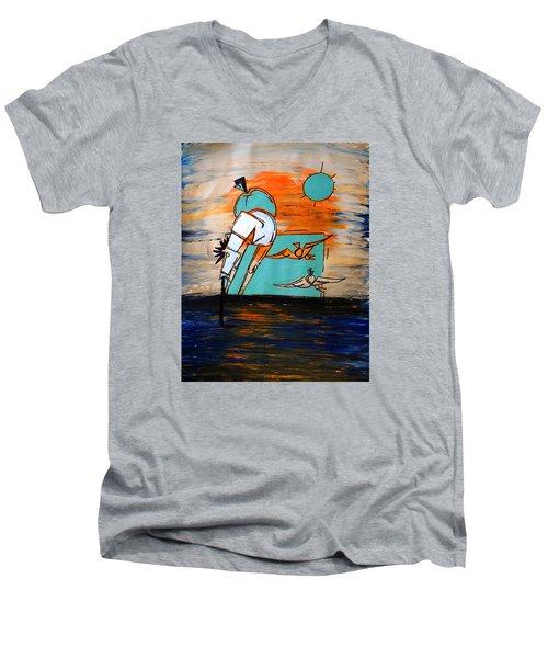 Ameeba- Horse 1 Men's V-Neck T-Shirt