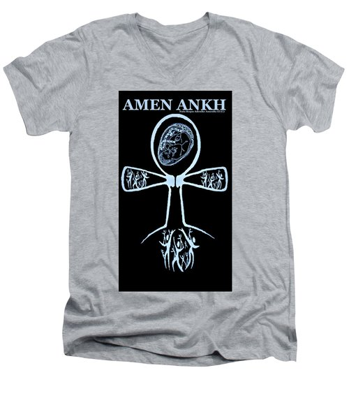 Amen Ankh Indigo Men's V-Neck T-Shirt