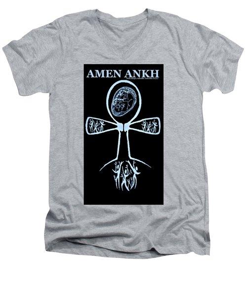Amen Ankh Indigo Men's V-Neck T-Shirt