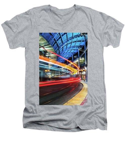 America Plaza Station Men's V-Neck T-Shirt