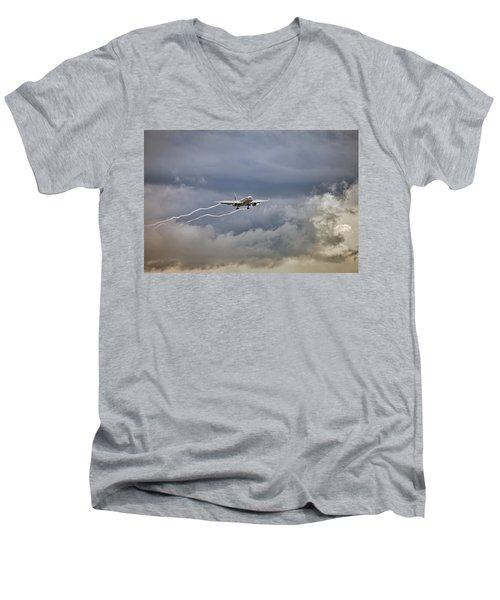 American Aircraft Landing Men's V-Neck T-Shirt