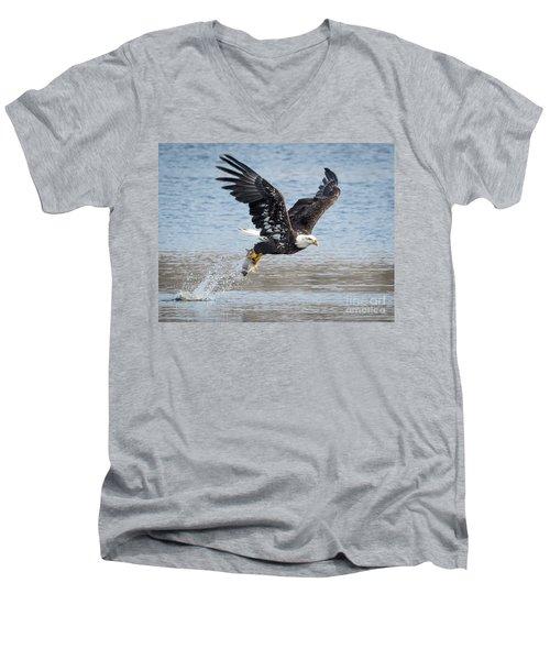 American Bald Eagle Taking Off Men's V-Neck T-Shirt